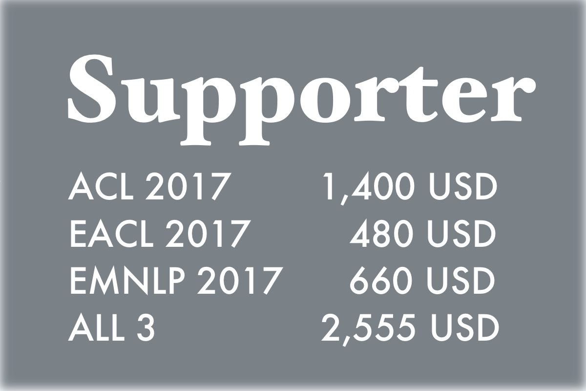 supporter sponsor pricing summary